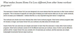 Insane Home Fat Loss Book