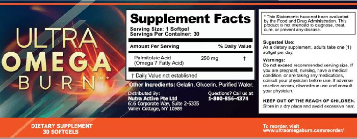 ultra omega burn ingredients