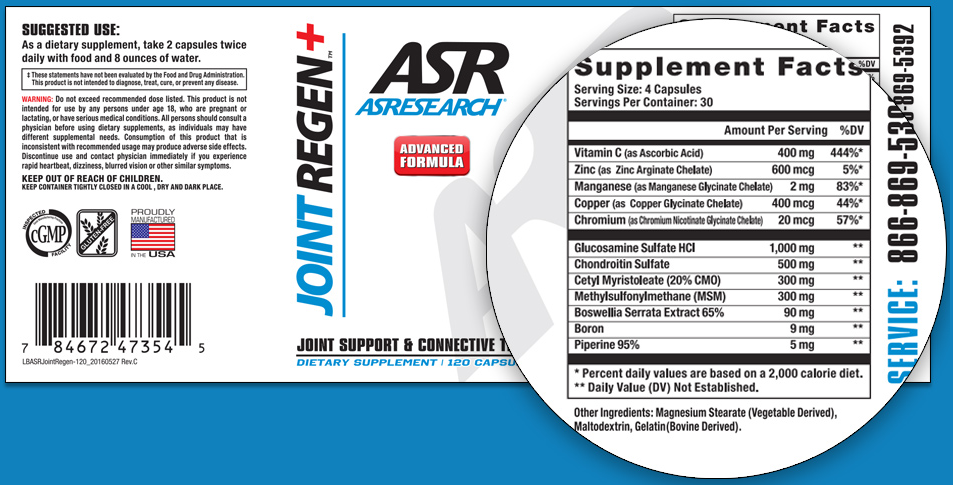 ASResearch Joint Regen Reviews - Read Its Supplement Facts!