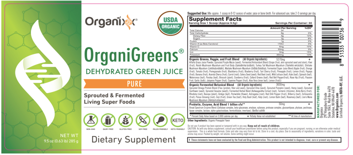 Organixx OrganiGreens Ingredients Clinical research