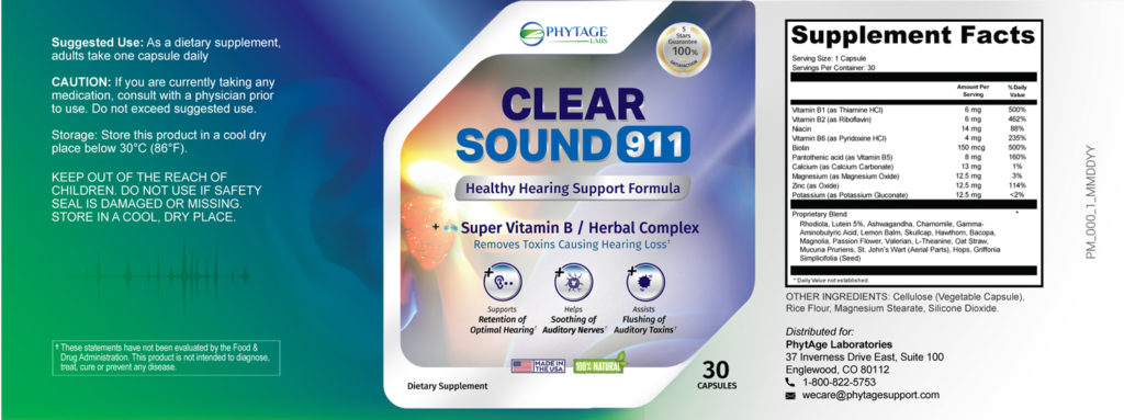 Clear Sound 911 label
