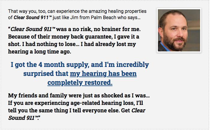 Clear Sound 911 Testimonial