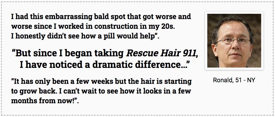Resuce hair 911 testimonials