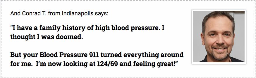 Blood pressure 911 testimonials