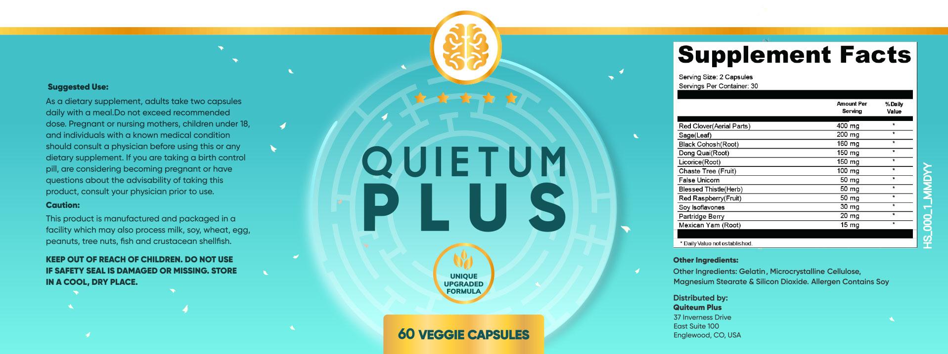 quietum plus supplement facts