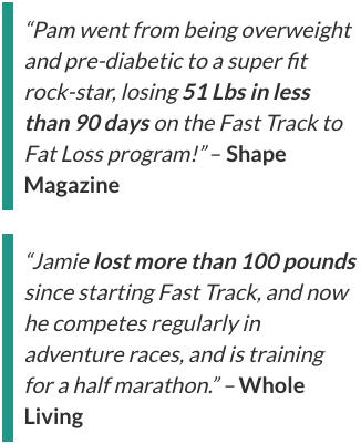 Fast Track To Fat Loss Testimonials